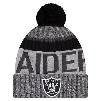 Nouvelle ère NFL SIDELINE 2017 Bobble Hat - Raiders d'Oakland