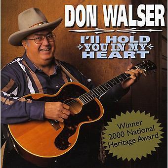 Don Walser - jeg vil holde dig i mit hjerte [CD] USA import