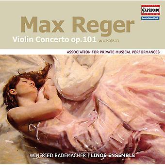 Reger / Rademacher / conjunto de Linos - violín Concerto Op. 101 [CD] USA import
