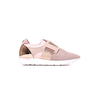 Women's Kygoa Embossed Trainers - Light Pink Leather
