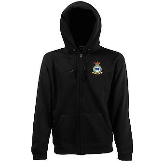 Marham RAF Station Embroidered Logo - Official Royal Air Force Zipped Hoodie Jacket