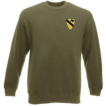 US Army 1st Cavalry Insignia Embroidered Logo - Heavyweight Sweatshirt