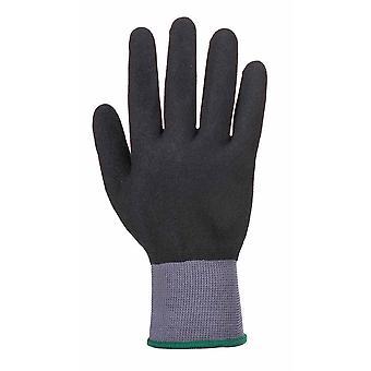 sUw - DermiFlex Ultra Pro Grip Glove (6 Pair Pack) Grey/Black XX-Large