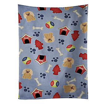 Dog House Collection Pekingnese Fawn Sable Kitchen Towel