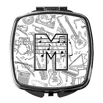 Каролинских сокровища CJ2007-MSCM письмо M музыкальная нота письма компактный зеркало