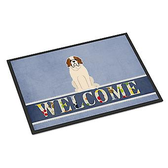 Carolines Treasures  BB5616MAT Saint Bernard Welcome Indoor or Outdoor Mat 18x27