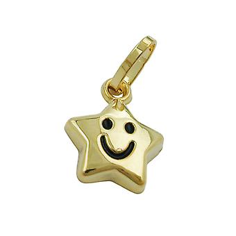 Children children jewelry pendant gold 375 pendant, star with a face, 9 KT GOLD