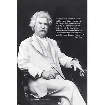 Mark Twain - Discover Poster Poster Print