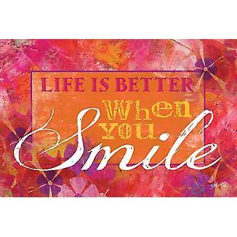 Glimlach Poster Print by Marla Rae (18 x 12)