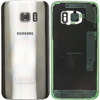 Samsung Galaxy S7 battery Cover Silver-original quality with camera lens