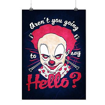 Matte of glanzende Poster met Clown eng Hello Horror | Wellcoda | * d2400