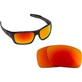 Best SEEK Polarized Replacement Lenses for Oakley TURBINE Black Red Mirror
