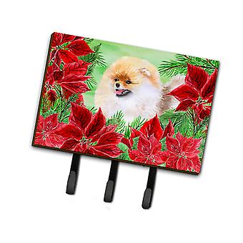 Carolines Treasures  CK1330TH68 Pomeranian Poinsettas Leash or Key Holder