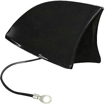 Plastic Car shark fin antenna Black (W x H x D) 115 x 75 x 65 mm