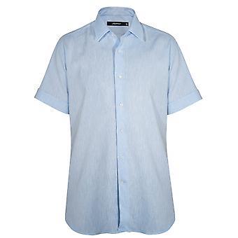 Lagerfeld Lagerfeld Blue Linen Short Sleeve Shirt
