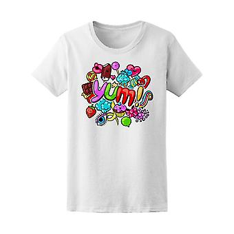 Kawaii Yum With Sweets & Candy Tee Women's -Image by Shutterstock