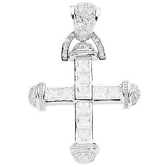 925 iced out sterling silver cross - CLYDE
