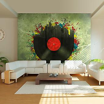Wellindal Wallpaper Colorful melodies of the city (Decoration , Vinyls)