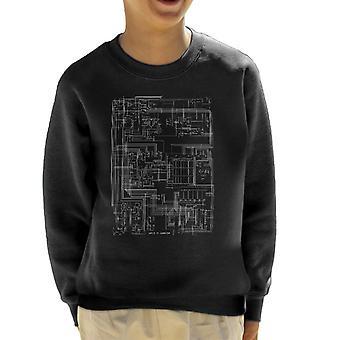 Apple II Computer Schematic Kid's Sweatshirt