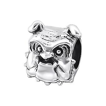 Chien - 925 Sterling Silver plaine Beads - W19986X