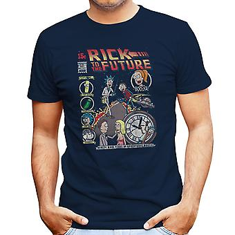 Rick And Morty Back To The Future Mix Men's T-Shirt