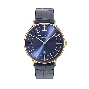 Kenneth Cole New York men's watch wristwatch leather KC15057015