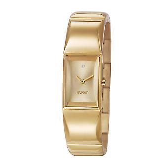 ESPRIT ladies watch bracelet watch Trinity stainless steel gold ES105482002