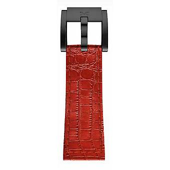 TW Steel Marc Coblen Bracelet Watch band 22 MM Croco cuir rouge LB_R_K_B