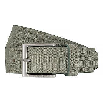 BALDESSARINI belt leather belts men's belts leather olive 6492