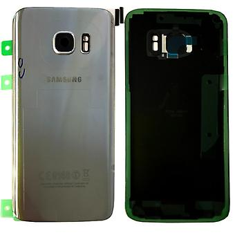 Samsung GH82-11346B battery cover cover for Galaxy S7 edge G935 G935F + adhesive pad silver