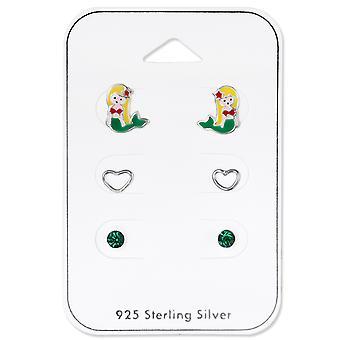 Meerjungfrau - 925 Sterling Silber Sets - W33242X