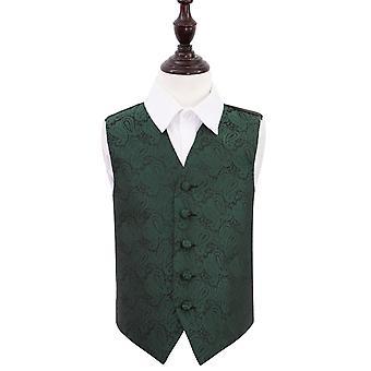 Smaragd gröna Paisley bröllop väst för pojkar