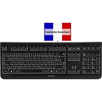 USB keyboard CHERRY KC 1000 Black French, AZERTY