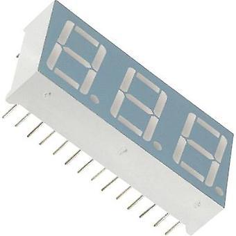 LUMEX Seven-segment display Green 14.22 mm 2.2 V No. of digits: 3 LDT-A512 RI