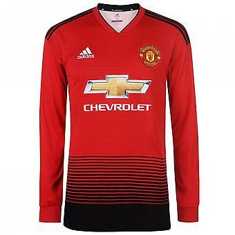 2018-2019 Man Utd Adidas Home Long Sleeve Shirt