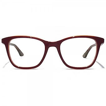 Paul Smith Neave Glasses In Sunset Red