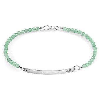 Anchor & Crew Green Aventurine Purity Silver and Stone Bracelet