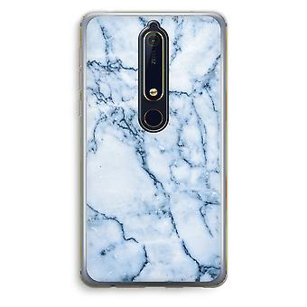 Nokia 6 (2018) Transparent Case (Soft) - Blue marble