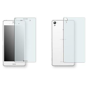Sony Xperia Z3 display protector - Golebo crystal-clear protector (3 x front / 3 rear)
