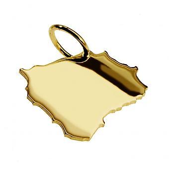 Anhänger Landkarte Kettenanhänger in gold gelb-gold in der Form von BÖHMEN