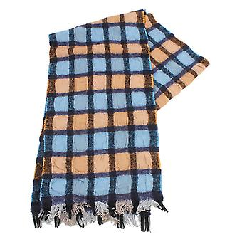 Bassin and Brown Southerton Check Scarf - Blue/Navy/Beige