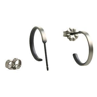 Ti2 Titanium kleine Hoop Earrings - zwart