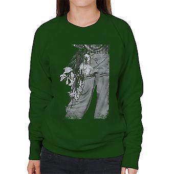 The Smiths Morrissey Flowers In The Back Pocket Women's Sweatshirt