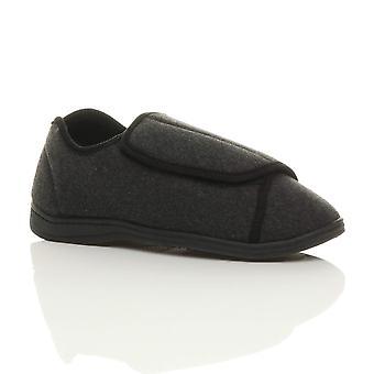 Ajvani mens grip sole diabetic orthopaedic wide fit comfort slippers house shoes