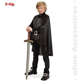 Costume bambini combattenti del cavaliere nero costume di moschettiere bambino del cavaliere