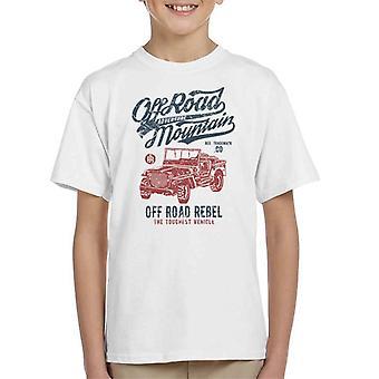 Vintage de camiseta de montaña de carretera Jeep infantil