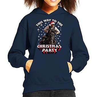 Indiana Jones This Way To The Christmas Party Kid's Hooded Sweatshirt