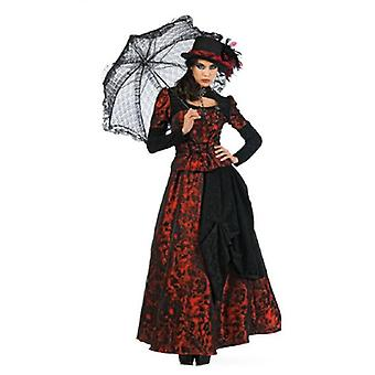 Gothickleid ladies costume dress Dark Lady Medieval Gothic ladies costume Red
