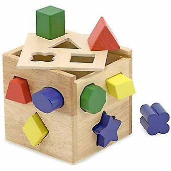 Melissa och Doug form sortering kub klassisk leksak