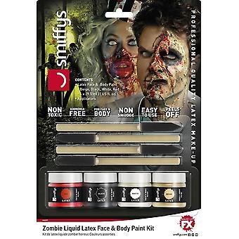 Horror Zombie Liquid Latex Kit, ASSORTED